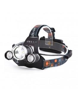 3 Başlıklı Şarjlı  Kafa Feneri  Watton Wt-256